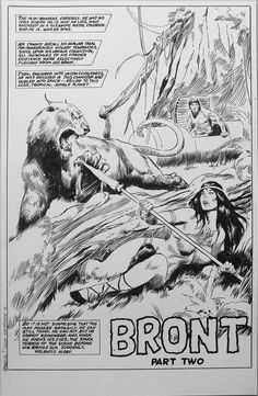 Bront from Savage Sword of Conan by J. DeMatteis and John Buscema Best Comic Books, Comic Books Art, Comic Book Artists, Comic Artist, Fantasy Comics, Fantasy Art, Heavy Metal Comic, Savage Worlds, Pen Illustration