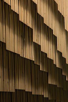 Kengo Kuma creates facade of wooden strips for University of Tokyo computing…