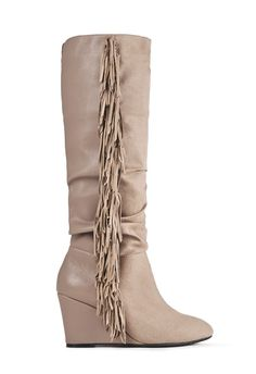 She's a boot, she's a wedge, she's got fringe, oh my! The trifecta of utter chicness, Maxime by JustFab really is as fab as she seems.