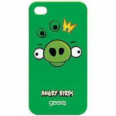 Angry Birds Snap-On Cover for iPhone 4, Pig King