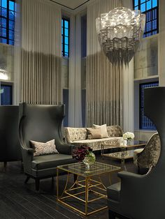 Concentric Coffee Table by Codor Design, Gary Lee Partners Interior Architecture, Interior And Exterior, Masculine Interior, Hotel Lounge, Restaurants, Lounge Design, Living Spaces, Living Room, Hospitality Design
