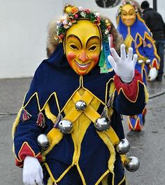 Swabian-Alemannic Fasnet (carnival) - photogaphed at ANR-Ringtreffen Weingarten, 9 Feb 2014