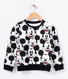 Blusão Infantil    Manga longa    Gola redonda    Estampado    Marca: Mickey Mouse    Tecido: moletom    Composição: 100% algodão              COLEÇÃO INVERNO 2016         Veja mais opções de produtos   Mickey Mouse.