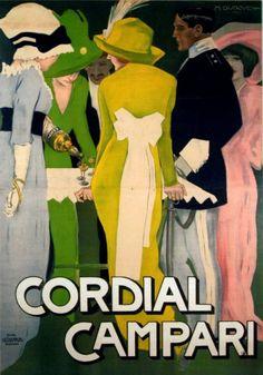 Marcello Dudovich (1878-1962, Italy), Cordial Campari, Grafica Chappuis, Bologna.