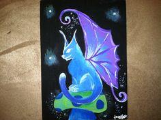 Night Fairy Kitty - Acrylic By: Lauren Tornetta