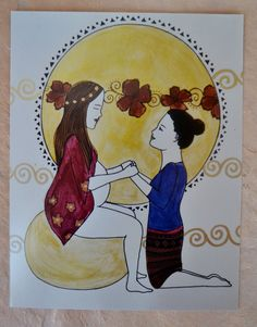 expresses the full presence, honoring, and support for my doula clients. more lovely art by SpiritYSol