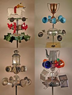 Whirlygigs made at the Hutch Studio in La Conner. I so want to make one with the boys!
