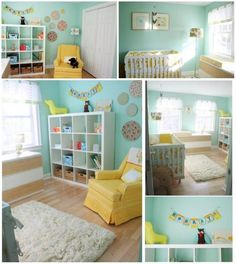 sweet nursery - love the colors