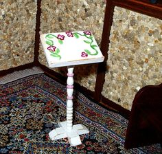 Music Book Stand Shabby Chic Dollhouse Miniature by CalicoJewels, $11.00