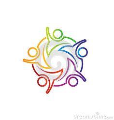 Teamwork Meeting 5 lineal logo - Buy this stock vector People Logo, People Icon, People People, Tool Design, Design Web, Vector Design, Logan, Teamwork Logo, Symbol Drawing
