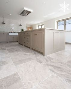 Silver Cloud sandblasted & brushed limestone tiles available for kitchen floor tiles. Order your FREE sample today! Limestone Flooring, Travertine Floors, Natural Stone Flooring, Tile Flooring, Ceramic Flooring, Large Floor Tiles, Ceramic Floor Tiles, Modern Floor Tiles, Home Decor Kitchen