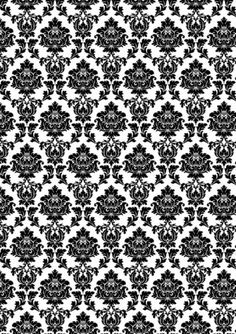 Black-White-Printed-Wallpaper-A4-Sized-Edible-Wafer-Paper-Icing-Sheet