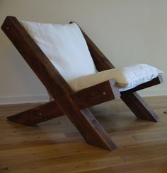 Barn Wood Lounge Chair by TicinoDesign on Etsy, $700.00