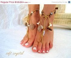 PROMO SALE Barefoot Sandals Barefoot Beach  native america Jewelry barefoot sandal, Hippie Sandals Foot Jewelry Toe Thong