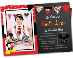 Mickey mouse Invitation Mickey Mouse Clubhouse by GardellaGlobal