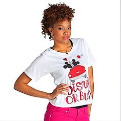 ''Disney or Bust'' Minnie Mouse and Mickey Mouse Tee for Women