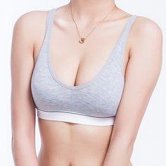女性綿押し上げるスポーツブラ稼働yoga作物トップ70 75 80 85サイズ(32 34 36 38)