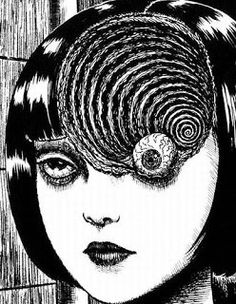 Uzumaki by Junji Ito.everytime I see snail or slug.I thought of Junji Ito hahaha. so freaky but so good. Japanese Horror, Japanese Art, Arte Horror, Horror Art, Psychedelic Art, Migraine Art, Migraine Headache, Chronic Migraines, Dibujos Dark