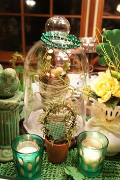 Christine's Site - St. Patrick's Table and Spring Cloche Party, 2012