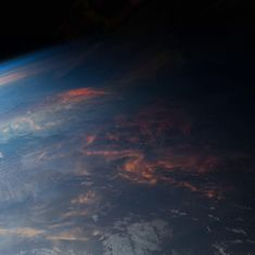 Sunset from the International Space Station, November 2013. #earthweek #EarthArt #sunset #handlewithcare