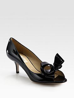 Valentino Couture Bow Patent Pumps