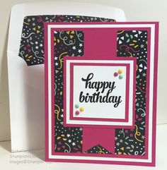 StampinMojo, Michelle Gleeson, PPA294 It's My Party DSP, Birthday Card