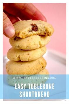 The one cookie recipe for all your holiday party needs! Simple, delicious and always a crowd pleaser! Toblerone Cake, Toblerone Chocolate, Chocolate Chip Cookies, Sugar Cookies Recipe, Shortbread Cookies, Baking Items, Best Cookie Recipes, Cookies Ingredients, Tasty Dishes