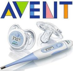 Philips AVENT Digital Baby Soother Dummy Thermometer Set Brand New SCH540/00