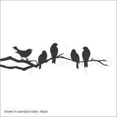 Birds on a Branch Decal Vinyl Wall Sticker door SimpleShapes