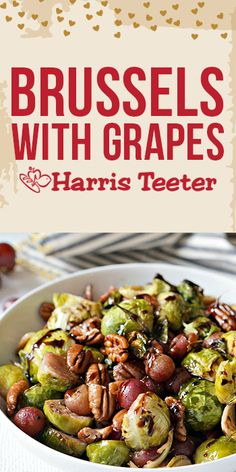 Savory and sweet, our Roasted Grapes and Brussels Sprouts is the perfect side dish for your date-night dinner. Night Dinner Recipes, Date Night Dinners, Healthy Dinner Recipes, Healthy Meals, New Vegetarian Recipe, Spinach Salad With Chicken, Side Dishes Easy, Family Meals, Food Inspiration