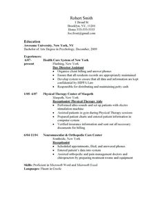11 Student Resume Samples No Experience
