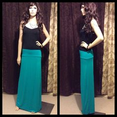 🔴Sale Ends Tomorrow! Get It Now Before Its Gone🔴 This is NWT but it has a small stain, I'm not sure how it happened. Soft stretchy fabric. Beautiful colors turquoise maxi skirt. Rue 21 Skirts Maxi