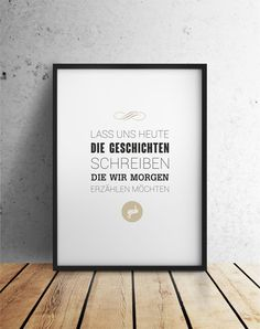 Typo Druck Poster // typo quote print via DaWanda.com