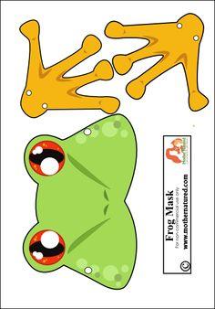 Frog Mask Printable #free