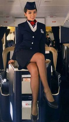 """""""I'm sorry, sir, I can't untie you until the police arrive,"""" the hostess told me unhelpfully. Flight Attendant Hot, Airline Attendant, Pantyhose Outfits, Pantyhose Legs, British Airways Cabin Crew, Air Hostess Uniform, Flight Girls, Airline Uniforms, Sexy Legs And Heels"""
