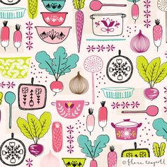 Love this fabulous surface #pattern #design by Flora Waycott