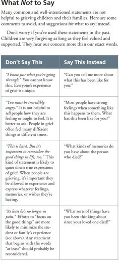 What not to say to grieving students (and other tools to help bereaved kids at school) - Child Support - Ideas of Child Support - Not only helpful for grieving and certainly not only applicable to students. Very helpful! Grief Activities, Counseling Activities, Family Therapy Activities, Coping Skills, Social Skills, Life Skills, Relation D Aide, Grief Counseling, Grief Support