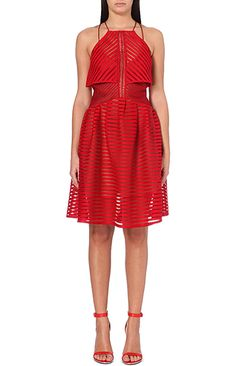 The Best Little Red Dresses For Every Budget -- Under $400 >>>  CROPPED OVERLAY DRESS, $337.79, SELF-PORTRAIT, SELFRIDGES.COM
