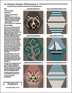 A second Tiny-Owl-Knits-land collection of little duplicate stitch charts for your Bee Keeper's Quilt, or anything else tiny you wish to embroider!