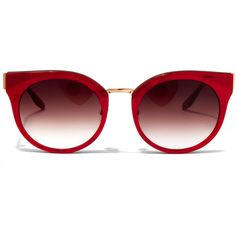 Barton Perreira Red Dovima Acetate Sunglasses (2.035 BRL) ❤ liked on Polyvore featuring accessories, eyewear, sunglasses, cateye sunglasses, red cat eye glasses, barton perreira, red lens glasses and red lens sunglasses