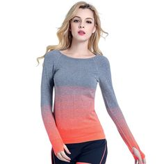 Women Fitness Casual T Shirt Compression Tights Workout  Long Sleeve T-Shirts Undershirt Women Tees Tops