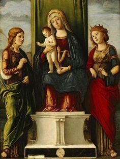 Madonna con Bambino e due Sante. 1495. Olio su tavola. Memphis Brooks Museum of Art
