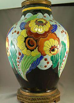 Boch Frere Keramis Belgium Art Deco Vase