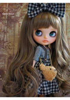 Custom Blythe ☆ ☆  pomme douce ☆ ☆  Buy her here:   #blythe #blythedolls #kawaii #cute #rinkya #japan #collectibles #neoblythe #customblythe