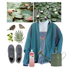 """lilies"" by paper-freckles ❤ liked on Polyvore featuring adidas Originals and Garden Trading"
