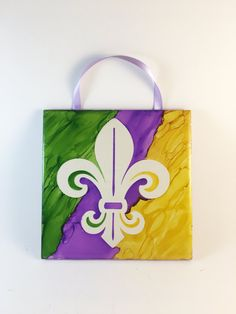 Mardi Gras Decor Mardi Gras Party Ceramic by CareysHomeCreations