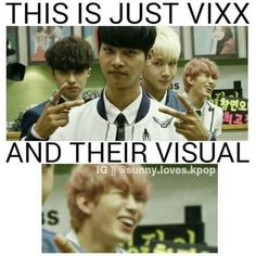 Hongbin derpin' in the background -VIXX