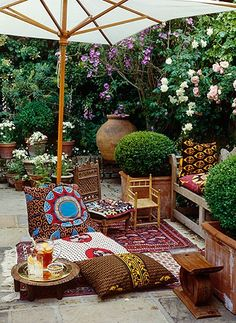 Morrocan inspired outdoor living space!