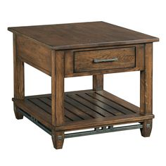 Rect End Table with Drawer