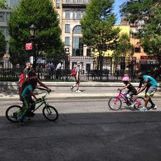 Annual NYC Summer Streets - mohawk baby bike lessons #outdoor #fitness #fun #frolic